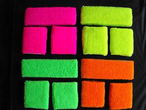 Neon-UV-Headband-OR-Wristbands-Sweatband-Fancy-Dress-80s-Sports-Band-Gym