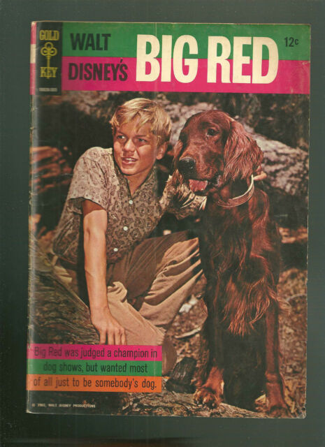 Movie Comics Gold Key Big Red dog VG+ TOUGH! Silver Age Disney 1965 Irish Setter
