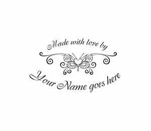 UNMOUNTED-PERSONALIZED-MADE-WITH-LOVE-BY-RUBBER-STAMPS-M1