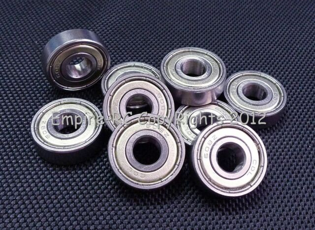(4 PCS) 608ZZ (8x22x7mm) Double Metal Shielded Ball Bearing Bearings 608z 8*22*7