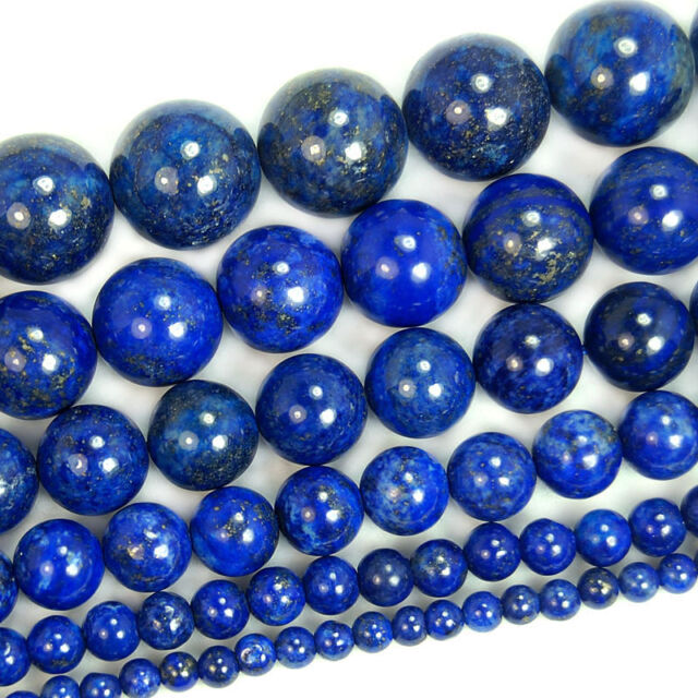 Lapis Lazuli Round Bead 15.5'' 2mm 3mm 4mm 6mm 8mm 10mm 12mm 14mm 16mm 18mm 20mm