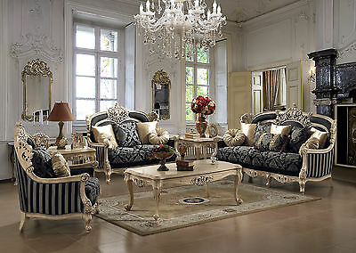 Luxury Sofa U0026 Love Seat Traditional Formal Living Room Furniture Set HD 03