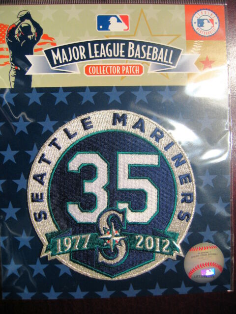 MLB Official Seattle Mariners 35th Anniversary Commemorative Patch 2012