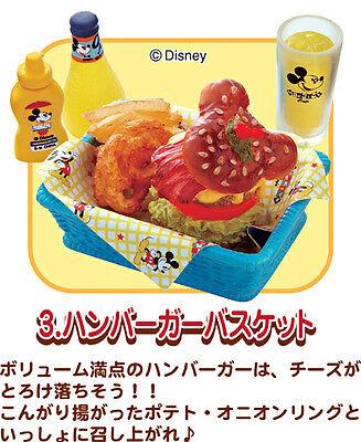 Re-ment Disney Mickey 50's cafe #3-Burger serve in basket w/juice drink Barbie