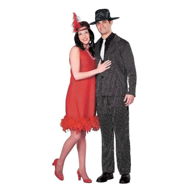 new women red flapper feather dance dress gangster halloween costume size m