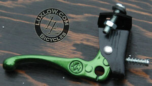 Green-Old-School-BMX-Bike-MX-Alloy-Brake-Lever-Fixed-Gear-Fixie-Vintage-Bicycle