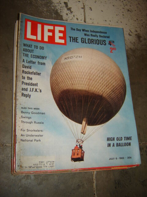 LIFE magazine July 6 1962 BALLOON BENNY GOODMAN INDEPENDENCE DAY