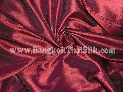 DARK RED FUAX SILK DUPIONI FABRIC BRIDESMAID DRESS WEDDING TABLECLOTH DRAPE