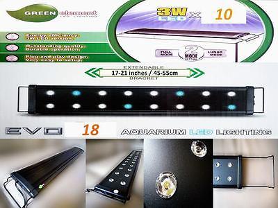 Beamswork EVO 18 aquarium LED light  10x 3W 3 Watts coral reef marine45-60cm