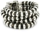 """Angel Lee Angel """"Valerie"""" Multi-Colored Strand Hematite Plated and Silver Beaded Stretch Bracelet"""