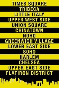 NYC-Location-Signs-24x36-Poster-Art-Print-0210PA