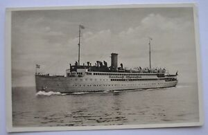 1930s Germany 3rd Reich Era Photo HANSESTADT DANZIG Vessel Ship German Flag