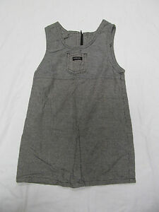Baby girl s guess jumper dress size 3y 3t black gray amp white plaid