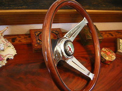 "Alfa Romeo Wood Steering Wheel GT Junior Veloce Deep Dish 3""  NARDI  NEW"