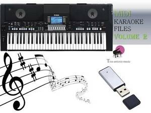 MIDI File Karaoke USB stick for PSR S550  NEW Volume 2