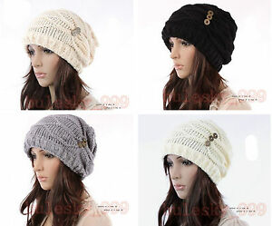 New-Fashion-Women-Hat-Cap-Warm-Winter-Ski-Braided-Baggy-Beanie-Knit-Crochet-Hats