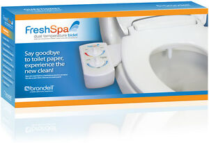 Brondell-FreshSpa-Dual-Hot-Cold-Bidet-Toilet-Attachment-W-Solid-Brass-Valves