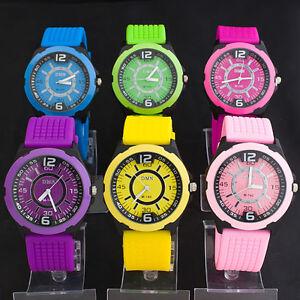 Colorful-Jelly-Candy-Sports-Quartz-Silicone-Wrist-Watch-UNISEX-Men-WOMAN