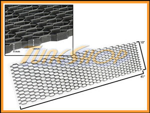 PLASTIC-ABS-UNIVERSAL-BLACK-SPORT-MESH-GRILL-GRILLE-CAR-STOCK-R-STYLE-10-X41-D