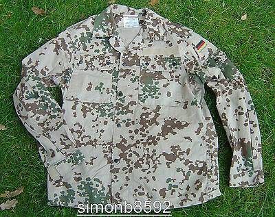 German Army Surplus Issue G1 Desert Tropetarn Camo Combat Shirt-Flecktarn Cotton