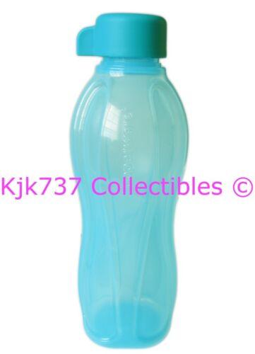 1 BRAND NEW TUPPERWARE SMALL SPORTS PLASTIC ECO WATER BOTTLE 16 OZ AQUA BLUE