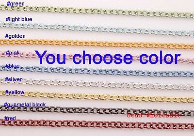 Wholesale 5/100m Curb Aluminum Open Link Chain Lot For Necklace Bracelet Making