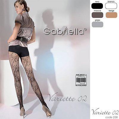 Gabriella Gemusterte Netzstrumpfhose Variette 02 , KA 238 SizeS-L / 36- 46