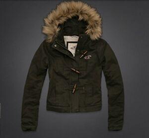 Nwt-Hollister-Womens-Jacket-Hoodie-Laguna-Beach-Olive-Sherpa-Lined-Sz-XS