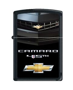 Zippo-034-Chevy-Camaro-45th-Anniversary-034-Black-Matte-Lighter-Low-Ship-8106