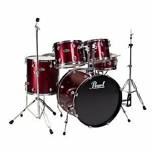 Pearl-CSC625P91-CenterStage-5-Piece-Drum-Set-Shell-Pack-Red-Wine