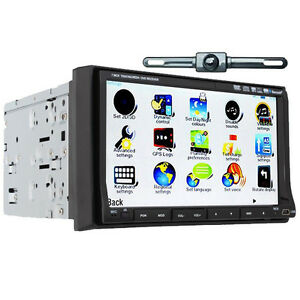 GPS-Satellite-Radio-TV-Music-BT-Phone-Car-Stereo-DVD-SD-Player-2Din-HD-7-034-Camera