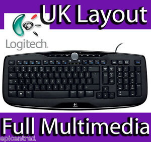 LOGITECH-MEDIA-KEYBOARD-600-MULTI-MEDIA-USB-WIRED-UK-LAYOUT