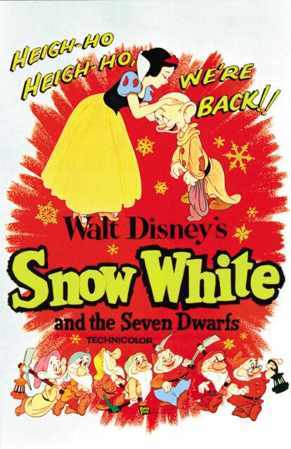 Snow White and the Seven Dwarfs (1937) Disney cartoon movie poster print  8
