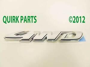 2008-2009-2010-2011-Ford-Escape-4WD-Emblem-Badge-Chrome-GENUINE-OEM-BRAND-NEW