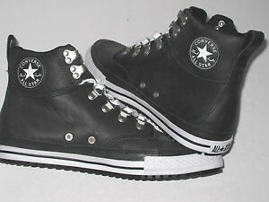 New-CONVERSE-CT-AS-PC-CLASSIC-HI-Black-Leather-Trainers-130628C