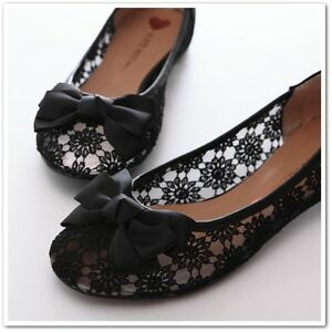 BN-Lacey-Bowed-Ladies-Wedding-Ballet-Flats-Ballerina-Comfy-Shoes-Beige-Black