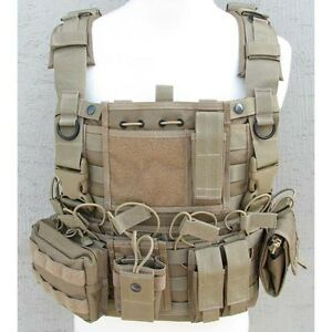 Devgru-SO-SFG-Molle-Tactical-Wasatch-Chest-Rig-Vest-Coyote-Brown
