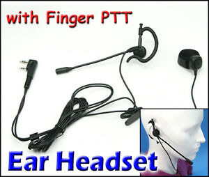Ear Headset with Finger PTT FOR KG-UVD1P TG-UV2 KG-UV8D PX ...