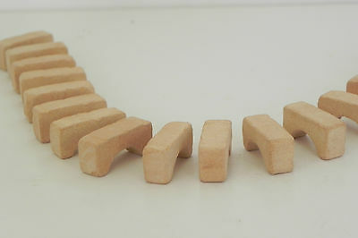 Miniature Bricks Buff Color Clay Material 25 Pieces Diorama Dollhouse Arch Shape