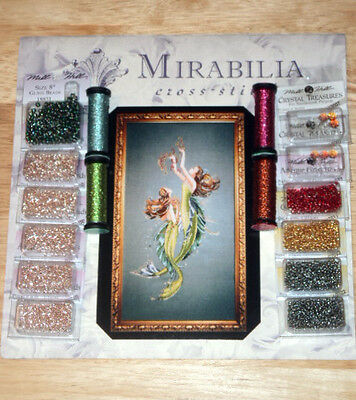 Mirabilia MD85 MERMAIDS OF THE DEEP BLUE Pattern, Required Beads, Kreinik Braid