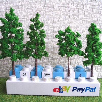 80 pcs Assorted Green Model Trees for HO N scale scene