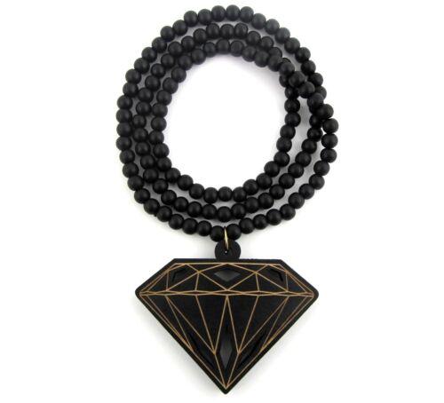 Pendant Hip Hop Chain Necklace Good Custom Wood BBC Wooden Diamond Supply Co