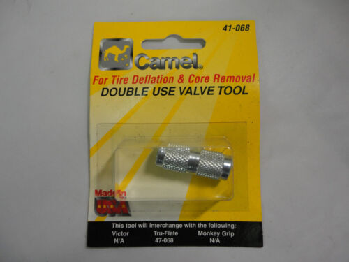 Camel 41-068 Double-Use Valve Core Remover /& Tire Deflation 5 Count New