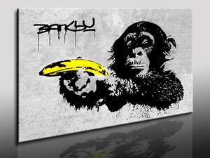 Fotoleinwand24-Bild-auf-Leinwand-Banksy-art-Kunstdrucke-Wandbilder-Poster-N-31