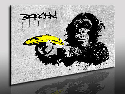 Fotoleinwand24 Bild auf Leinwand Banksy art Kunstdrucke Wandbilder Poster N-31