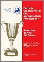 1984 CUP WINNERS CUP FINAL JUVENTUS v FC PORTO