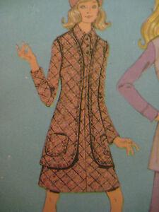 Vintage-McCalls-RETRO-MOD-DRESS-amp-VEST-Sewing-Pattern-Women-Pantsuit-Disco-Era