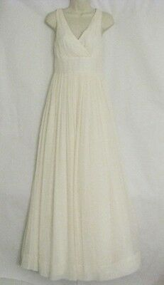 NEW J Crew Sophia Silk Chiffon Wedding Gown Dress ivory size 0 $425NEW