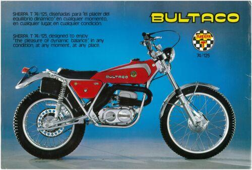 BULTACO Brochure Sherpa T 74 125 Trials 1976 1977 1978 Sales Catalog REPRO