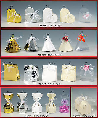 Paper Embossed Glossy Favor Gift Boxes, 12-pack, CLOSEOUT